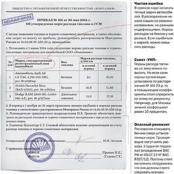 что многих приказ о норме расхода топлива зимний период Федерация, Свердловская область