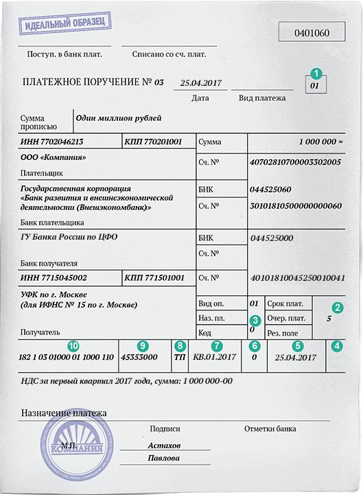 Инструкция Цб По Заполнению Платежных Поручений