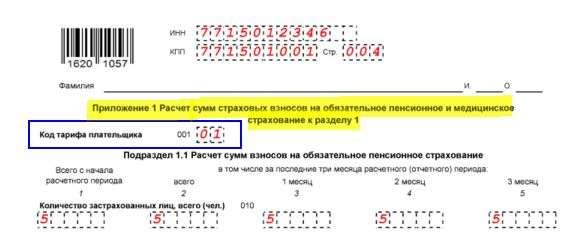 Изображение - Пониженный тариф фсс для основного вида деятельности kod-tarifa-platelshchika-strahovyh-vznosov-2017-2