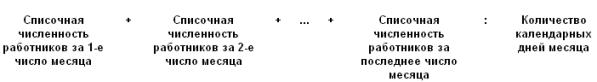 Отчет среднесписочная численность как считать