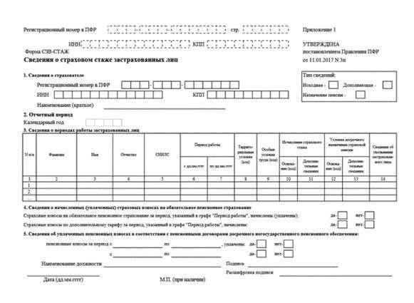 szv stazh forma - СЗВ-СТАЖ: новая отчетность для всех работодателей