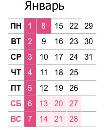 Праздничные дни в январе для расчета отпускных