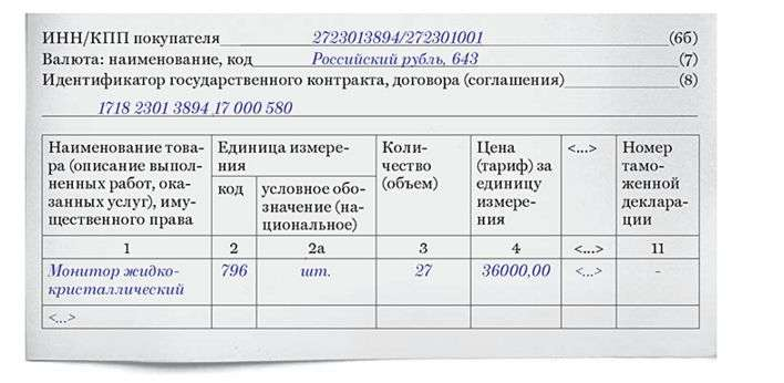 бланк счета фактуры с 01 07 2017 образец