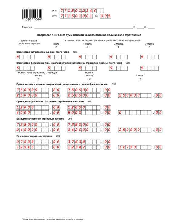 Расчет по страховым взносам (РСВ) 2017: инструкция по заполнению, порядок, образец