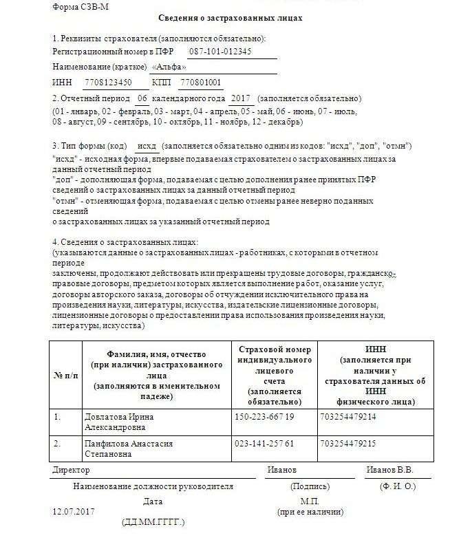 форма утверждена постановлением правления пфр от 1.02.2016г 83 п