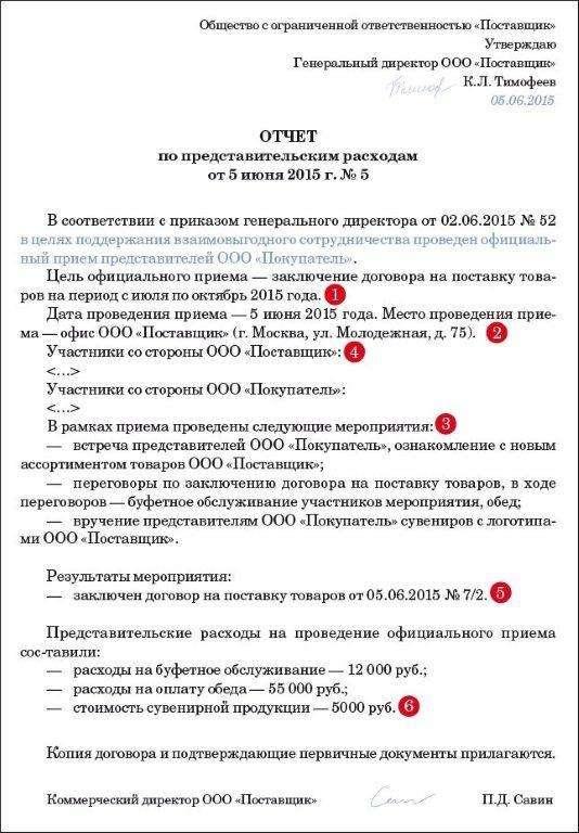 Обоснование Представительских Расходов Образец - фото 11