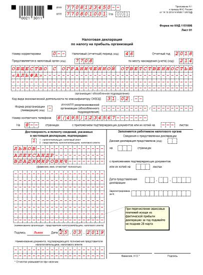 Как составить отчет по налогу на прибыль