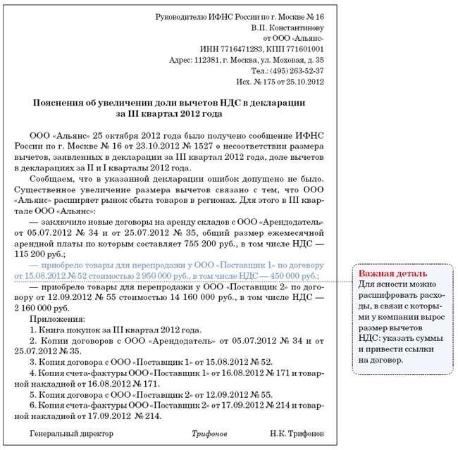 Доля вычетов ндс пояснение в ифнс валютные операции банка центркредит