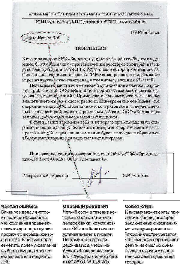 Письмо в банк о деятельности организации образец