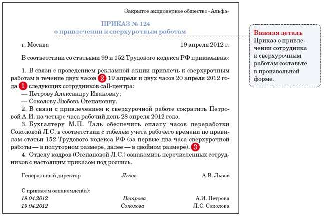 иммунодефицита приказ на сверхурочную работу Вконтакте скрыть